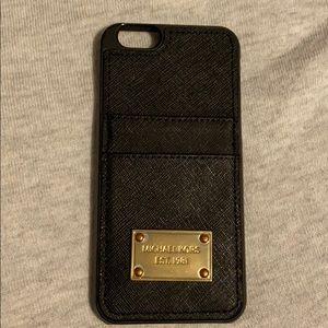 Michael Kors iPhone 6 black wallet case